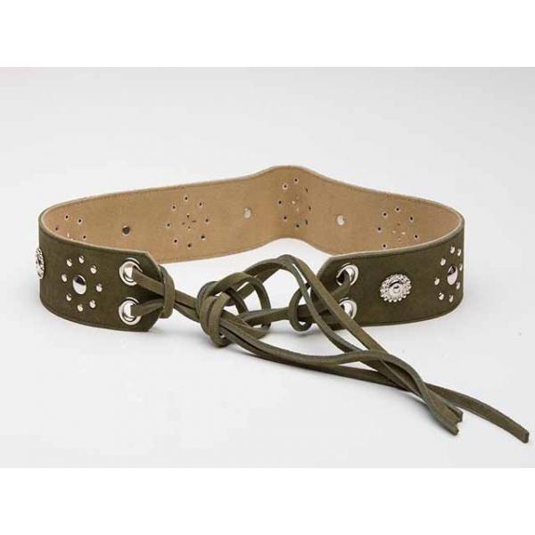 Coachella Girl Khaki Suede Waist Belt