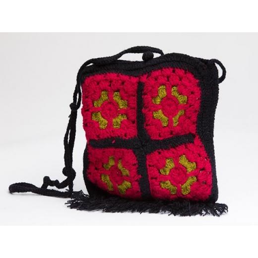 Lush And Plush Vintage Crochet Crossbody Bag