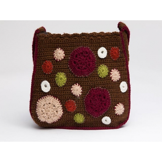 Groovy Girl Vintage Crochet Wool Bag