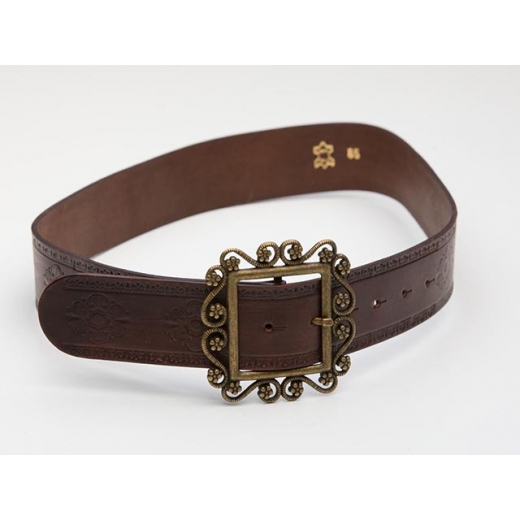 Flower Child Vintage Leather Belt