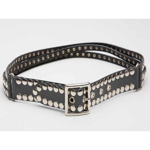 Shredded And Studded Vintage Punk Belt, Sz 6-10, M...