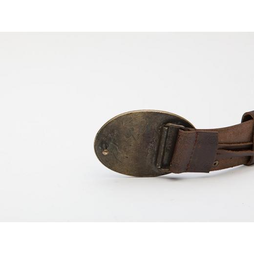 Medallion Mermaid-esque Vintage Leather Belt