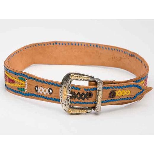 1970's Vintage American Navajo Leather Belt