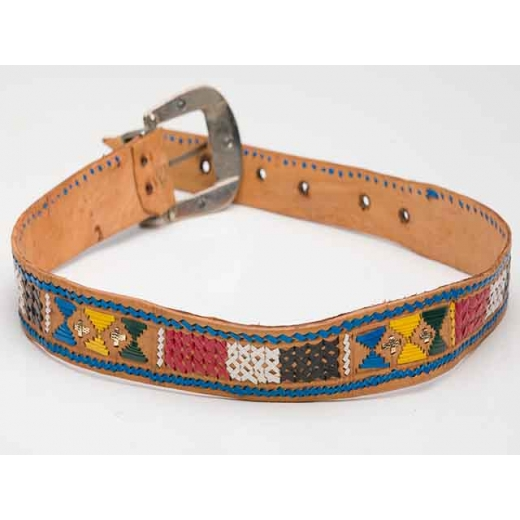 1970's Vintage American Navajo Leather Belt