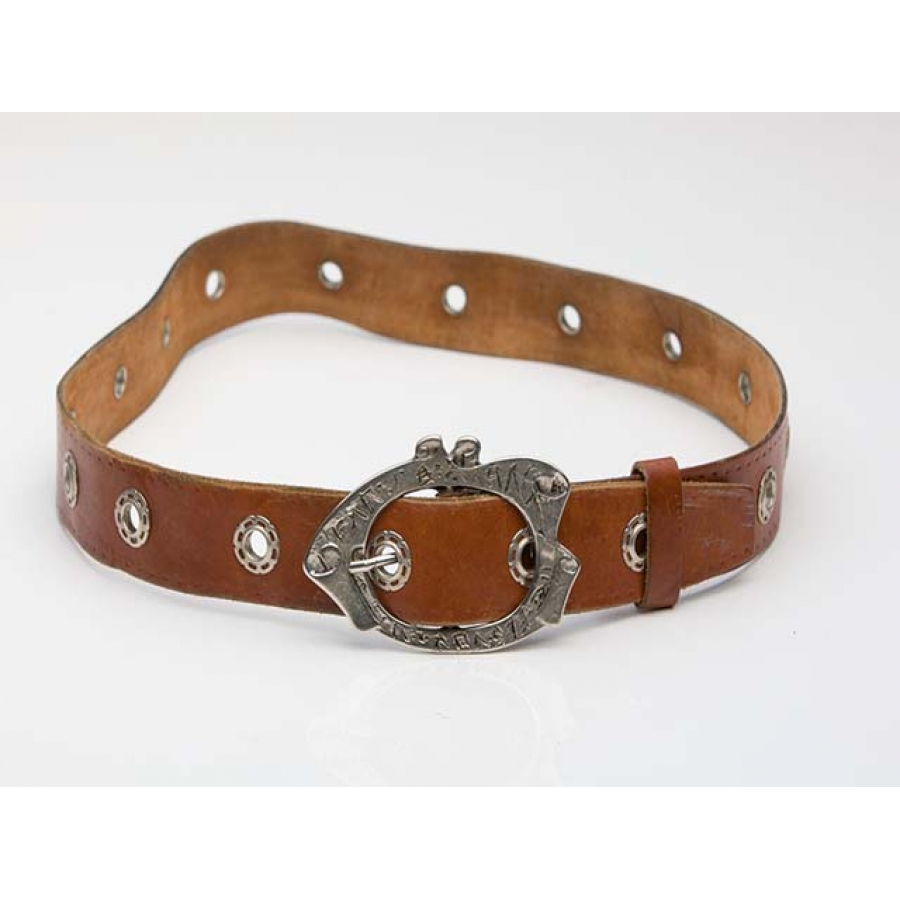 Hippie Chic 70's Vintage Leather Belt