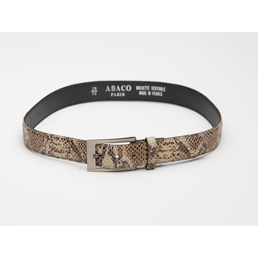 Python Print Vintage Leather Belt