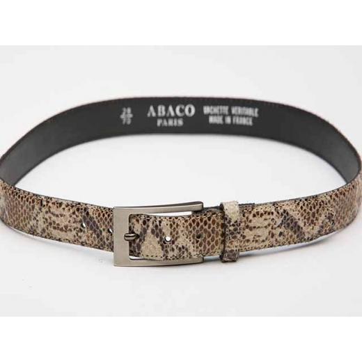 Python Print Vintage Leather Belt