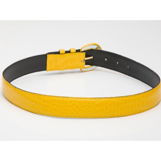 Daffodil Snakeskin Vintage Leather Belt