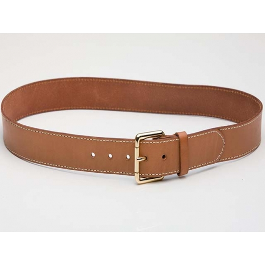Classic Vintage Ash Brown Leather Belt