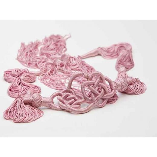 Pretty In Pink Vintage Silk Tassle Belt