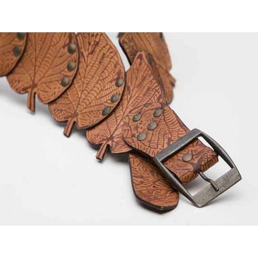 Fallen Leaves Vintage Leather Belt