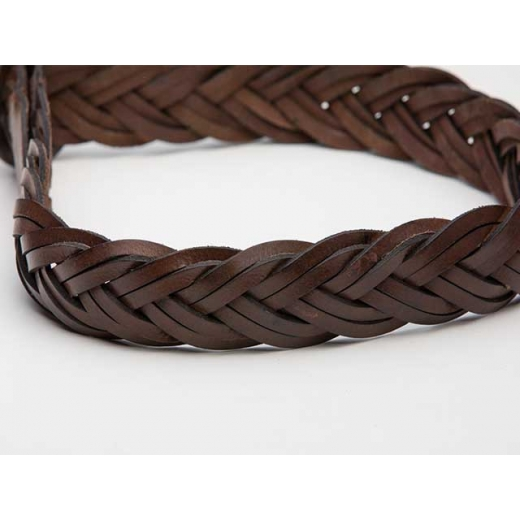 Cinnamon Spice Vintage Leather Plaited Belt