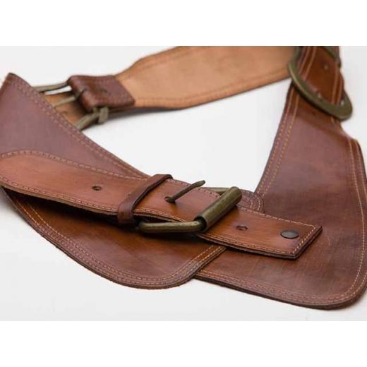 Dolly Parton Ventures To France Vintage Brown Leather Waist Belt