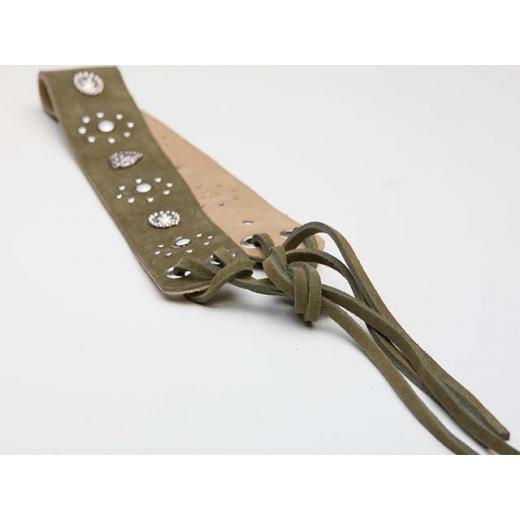 Coachella Girl Khaki Suede Vintage Waist Belt