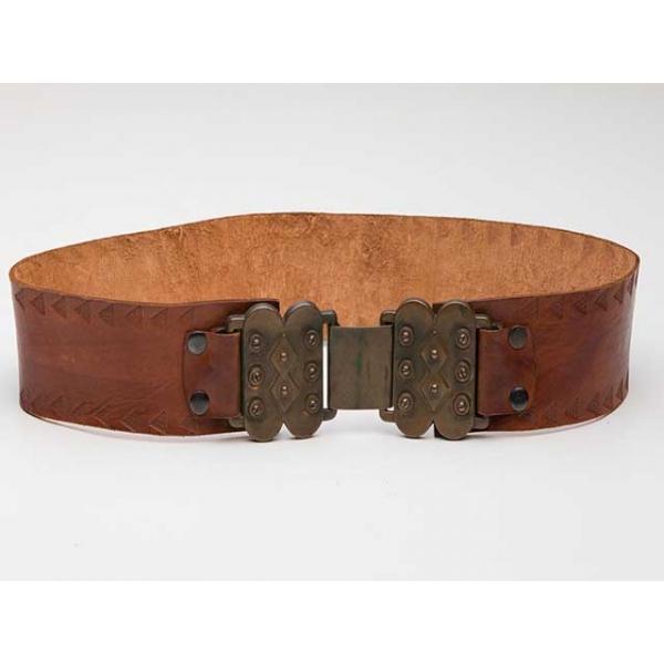 Sebastion Vintage Spanish Style Tooled Leather Bel...