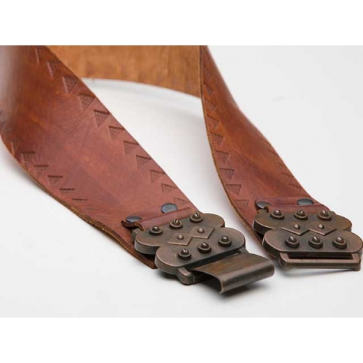 Sebastion Vintage Spanish Style Tooled Leather Belt