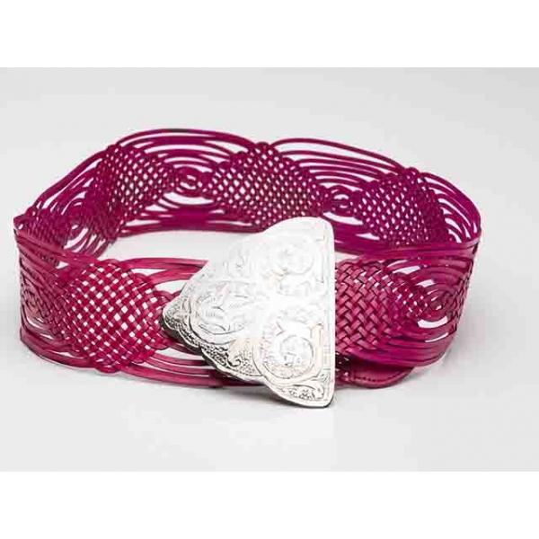 Frida Vintage Cerise Pink Woven Belt