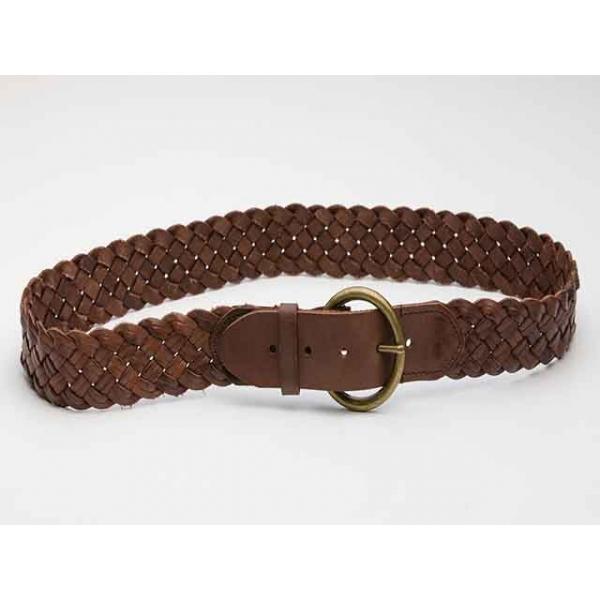 Fairgrounds Vintage Brown Leather Plaited Belt
