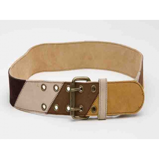 Chocolate Caramel Latte Vintage Suede Leather Belt...