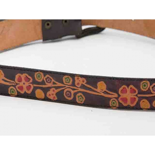 Field Day Floral Design Hand-Tooled Leather Belt