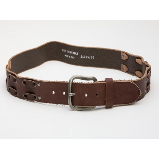 Link About It Vintage Brown Leather Belt