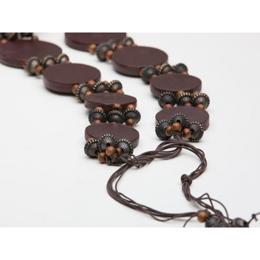 I Bead Your Love Vintage Wooden Wrap Belt