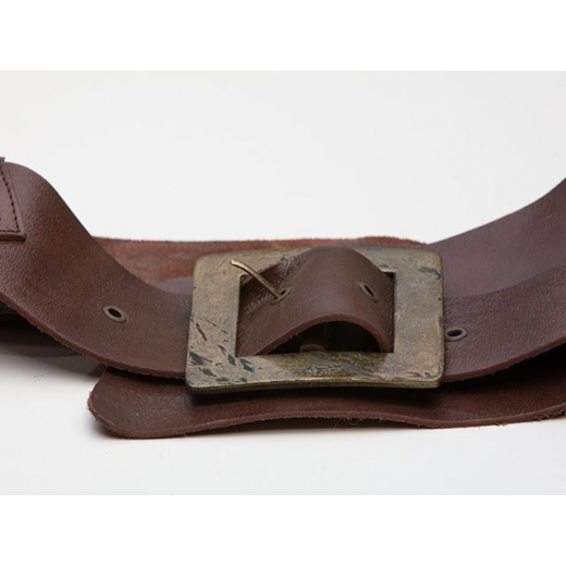 Oversized And Overwide Brown Leather Waist Belt