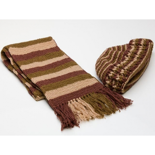 Naturally Chic Vintage Scarf And Beanie Winter Set...