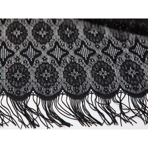 Globetrotter Vintage Silk Lace Shawl
