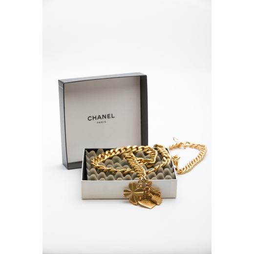 Chanel 1995 GHW Large Chain Belt with Charms