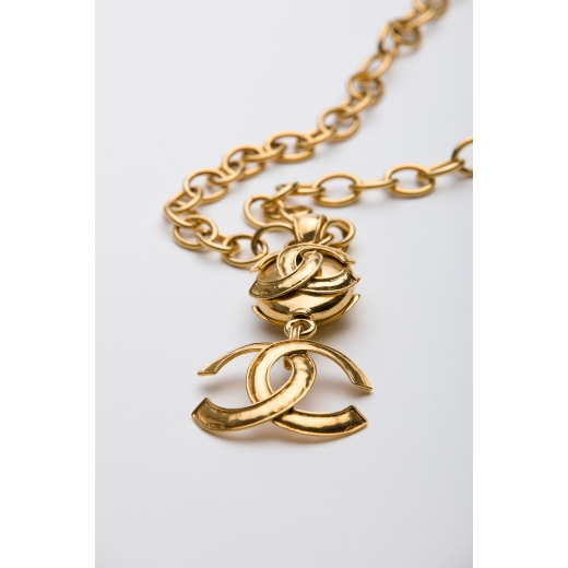Chanel Large GHW Medallion Necklace 1994