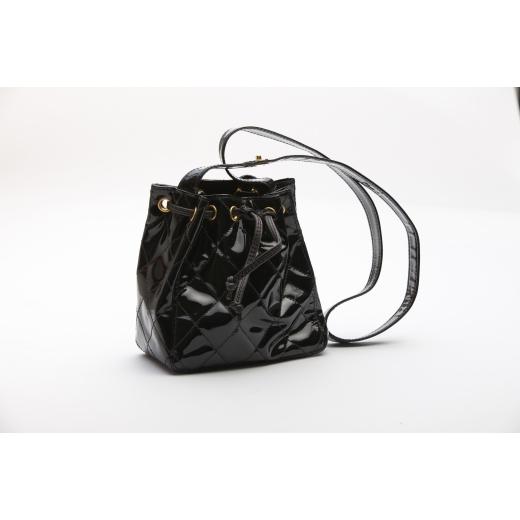 Chanel Patent Leather 1994 Vintage Bucket Bag