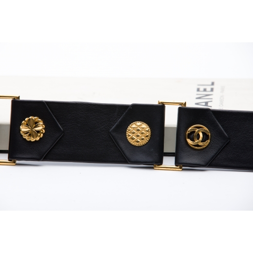Chanel Vintage leather and GHW waist belt date code - 2 9