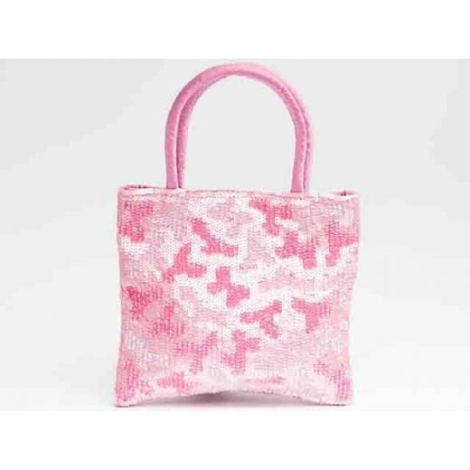Camo Girl Pink Vintage Beaded Bag