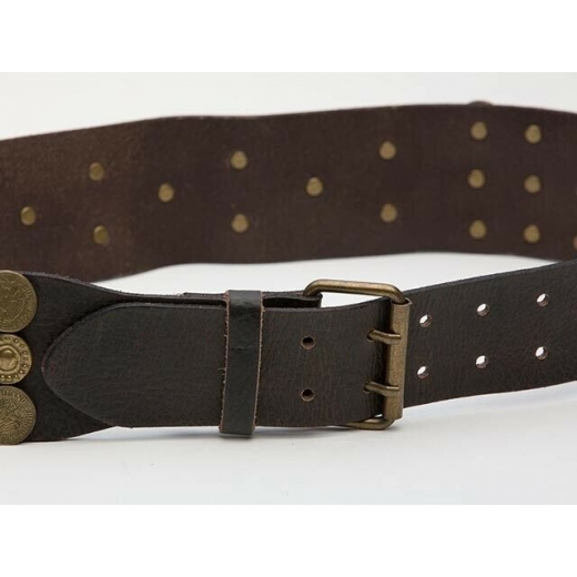 Euro Vintage Leather Lucky Coin Belt