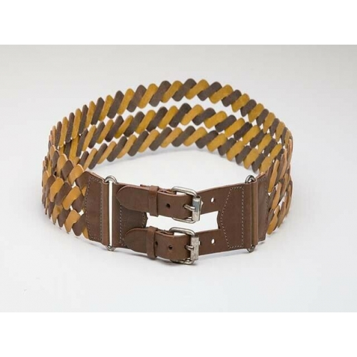 1980's Vintage Woven Two-Toned Leather Belt