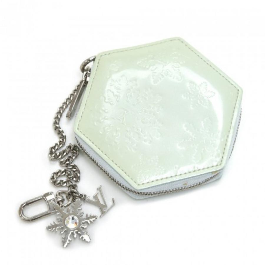 Louis Vuitton Flocon Mint Vernis Leather Coin Case-Limited Snowflake Ed