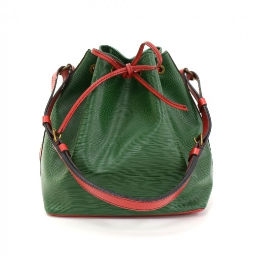 Vintage Louis Vuitton Petit Noe Green Red Vio Epi ...