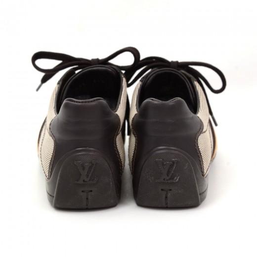 Louis Vuitton Dark Brown Leather x Canvas Sneakers- Size EU 341/2 US 4.5