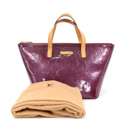 Louis Vuitton Bellevue PM Purple Violet Vernis Lea...