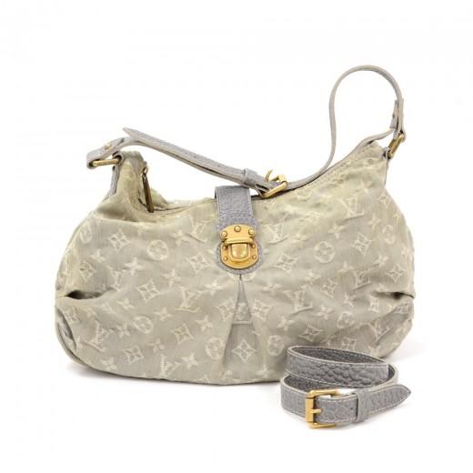 Louis Vuitton Slightly Gray Gris Monogram Denim Sh...