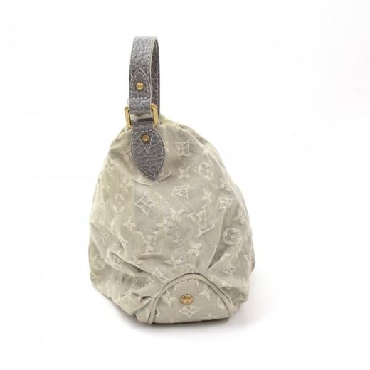 Louis Vuitton Slightly Gray Gris Monogram Denim Shoulder Bag