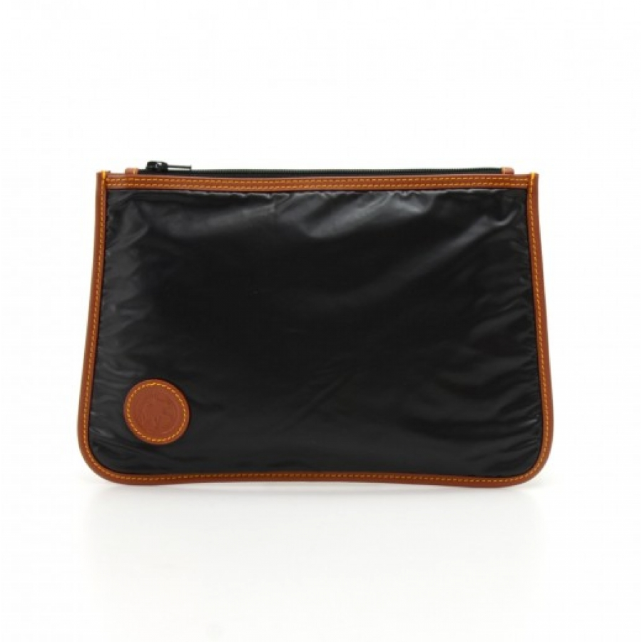 Hunting World Black Bachu cross and leather Pouch Small Bag