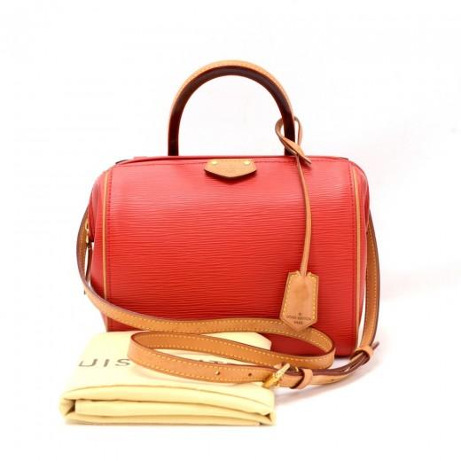 Louis Vuitton Doc BB Red Coquelicot Epi Leather Ha...