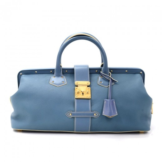 Louis Vuitton L'lngenieux Blue GM Suhali Leather H...