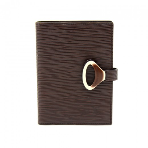 Louis Vuitton Moka Brown Epi Leather Agenda Cover ...