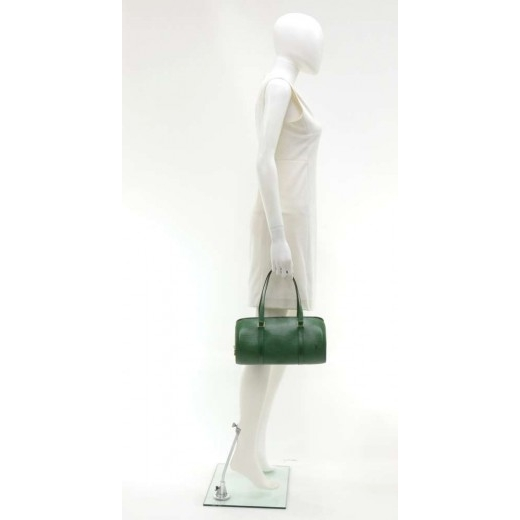 Vintage Louis Vuitton Soufflot Green Epi Leather Handbag