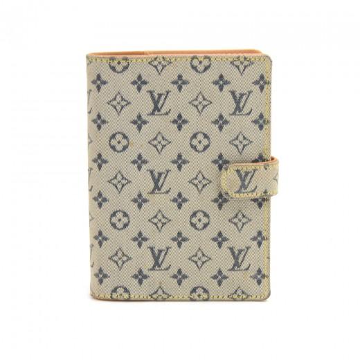 Louis Vuitton Agenda PM Mini Line Blue Monogram Ca...