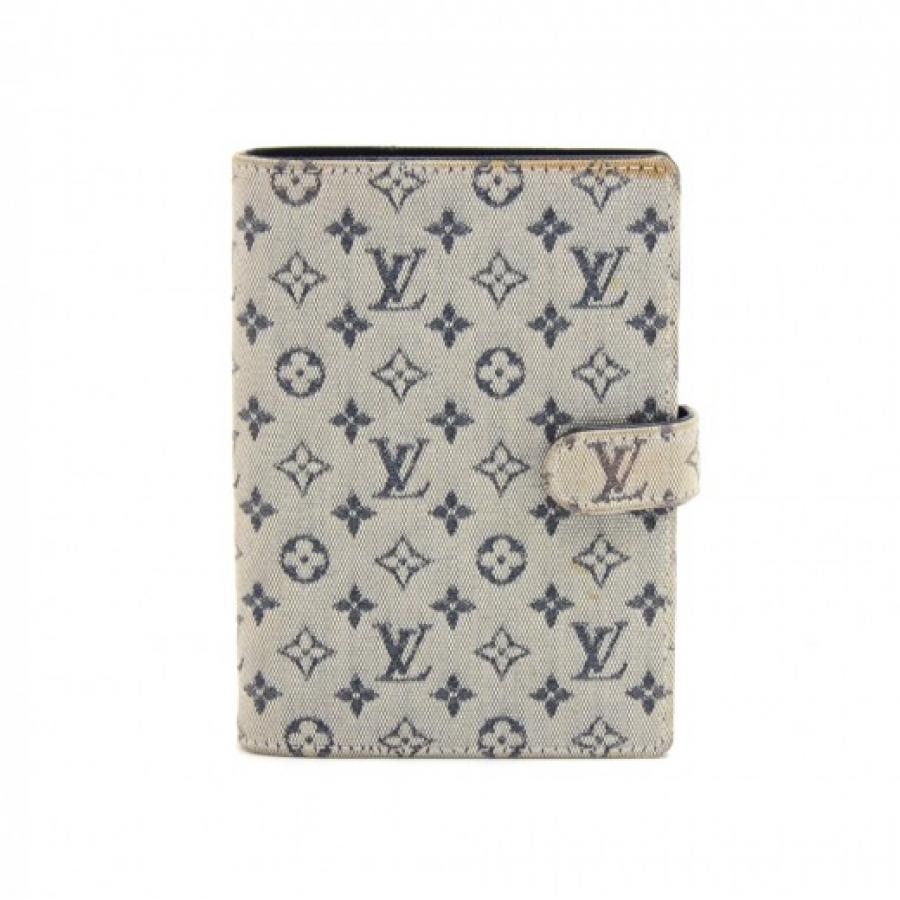Louis Vuitton Agenda PM Mini Line Blue Monogram Canvas Agenda Cover