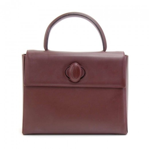 Cartier Must Line Burgundy Leather Handbag